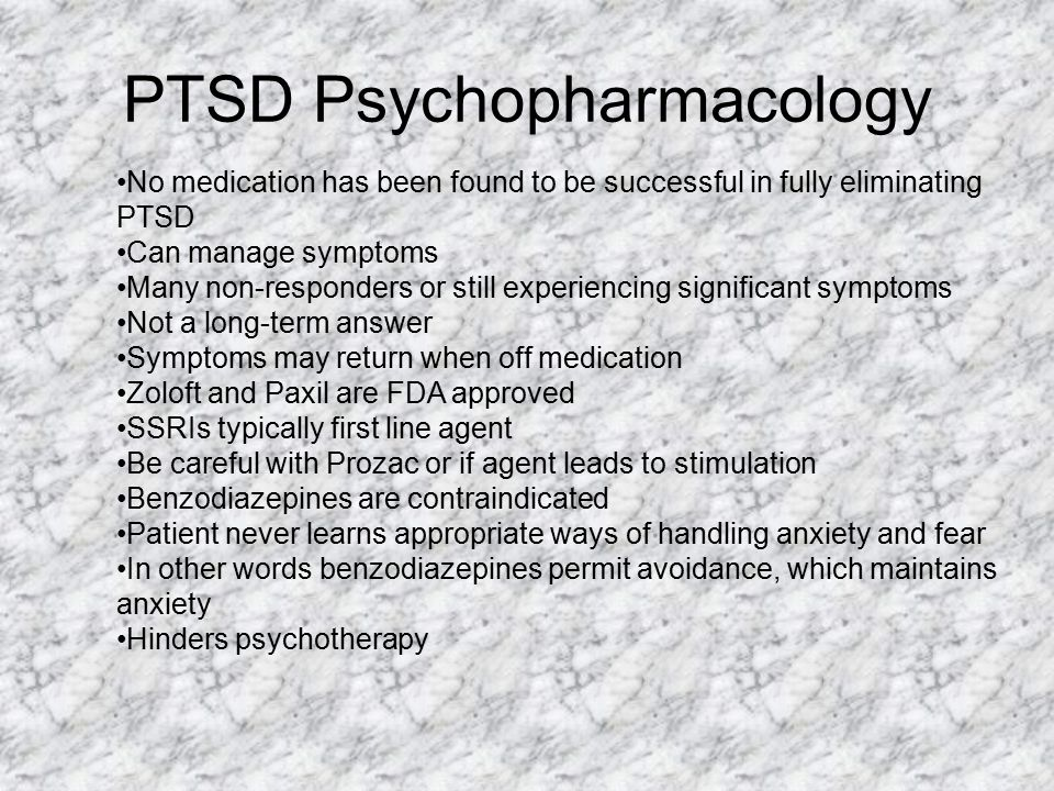 PTSD Psychopharmacology