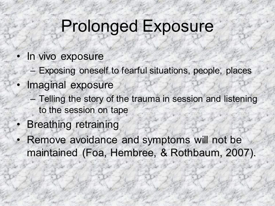 Prolonged Exposure In vivo exposure Imaginal exposure