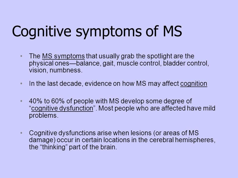 Cognitive symptoms of MS