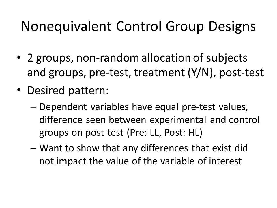 Nonequivalent Control Group Designs