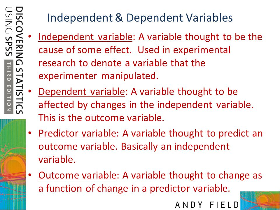 Independent & Dependent Variables
