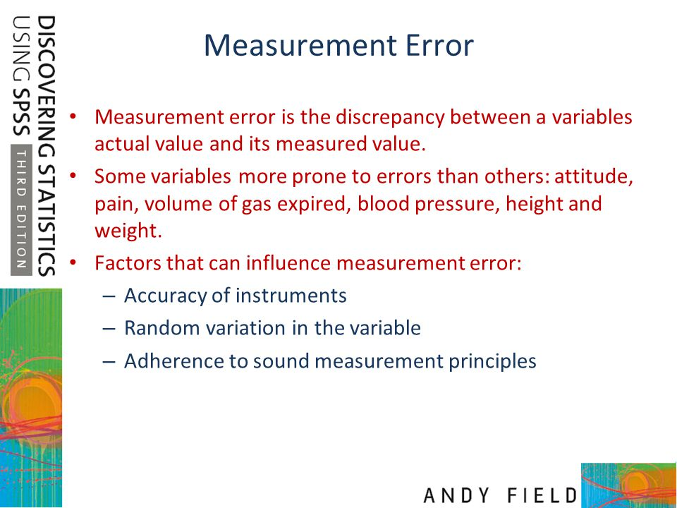 Measurement Error Measurement error is the discrepancy between a variables actual value and its measured value.