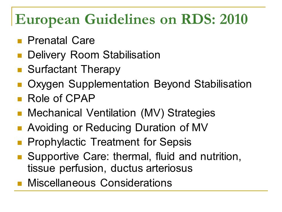 European Guidelines on RDS: 2010