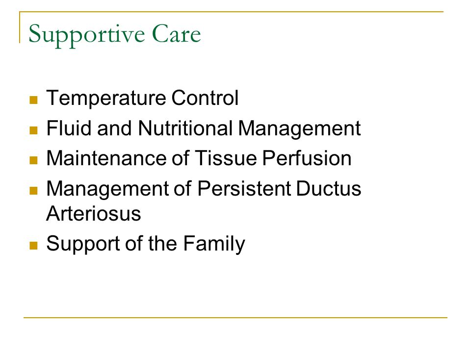 Supportive Care Temperature Control Fluid and Nutritional Management