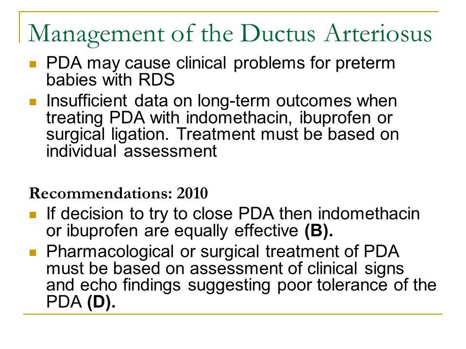 Management of the Ductus Arteriosus