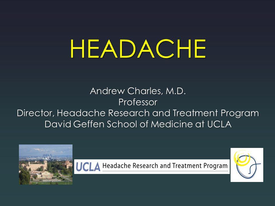 HEADACHE Andrew Charles, M.D. Professor