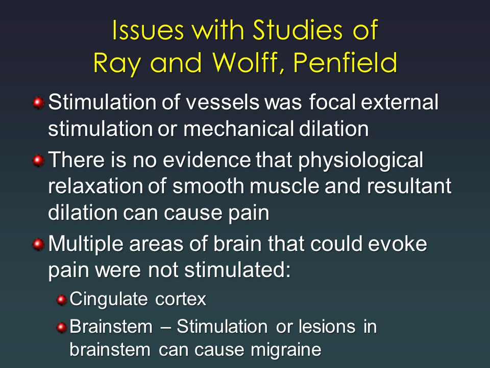 Issues with Studies of Ray and Wolff, Penfield