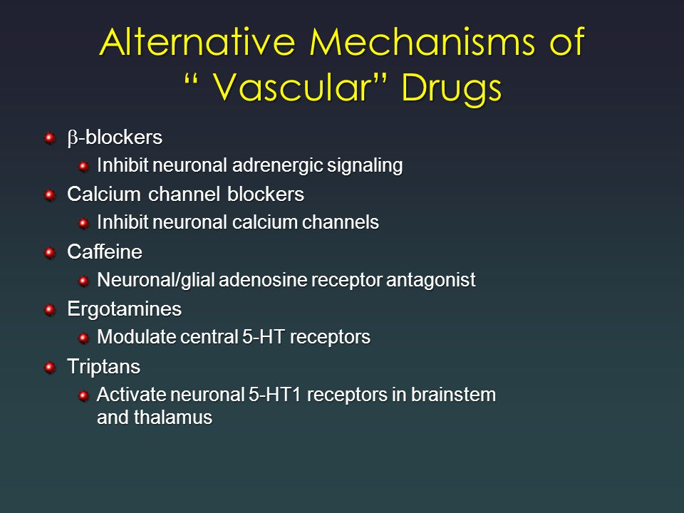 Alternative Mechanisms of Vascular Drugs