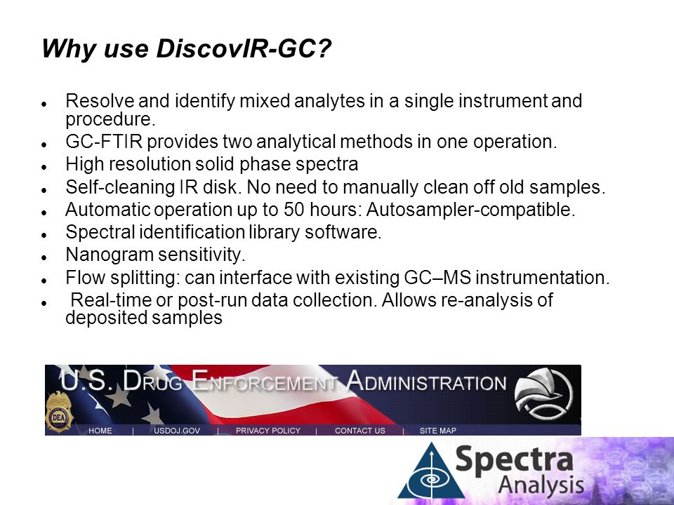 Why use DiscovIR-GC Resolve and identify mixed analytes in a single instrument and procedure.