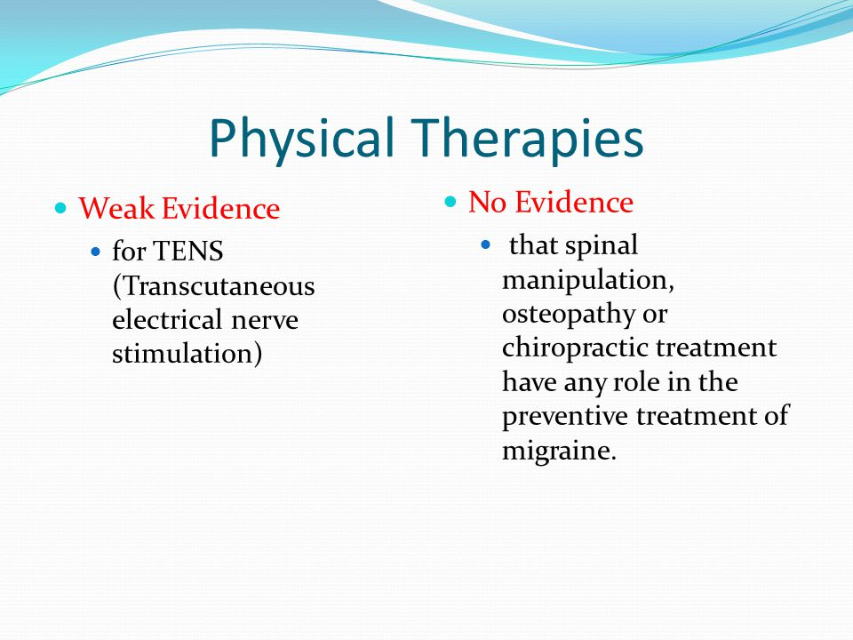 Physical Therapies No Evidence Weak Evidence