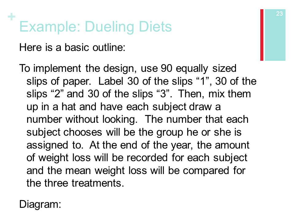 Example: Dueling Diets