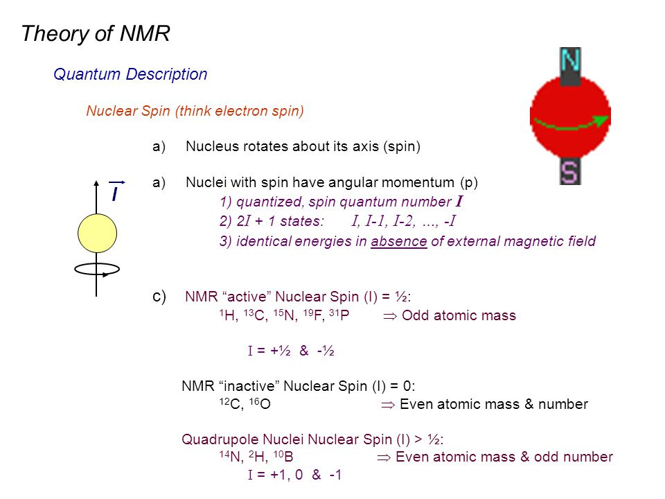 Theory of NMR l Quantum Description