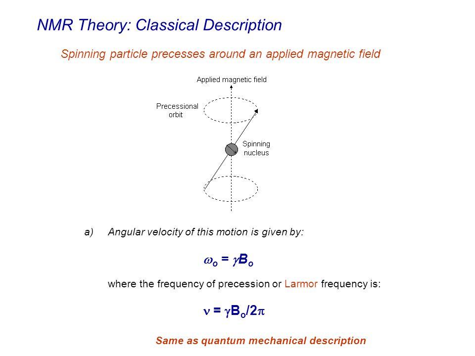 NMR Theory: Classical Description