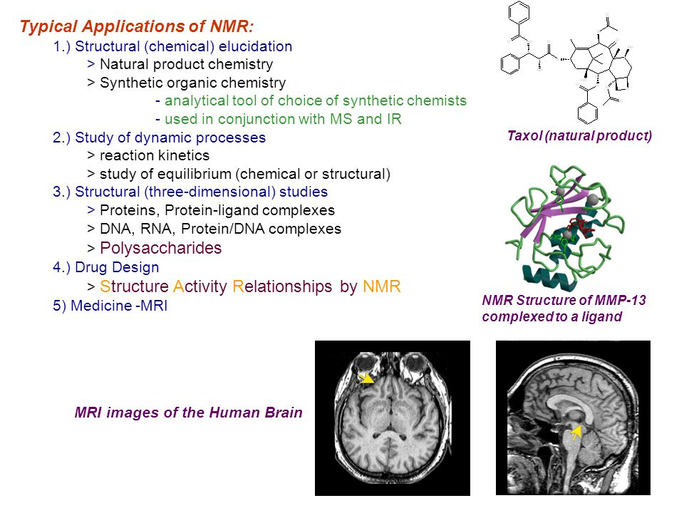 Typical Applications of NMR: