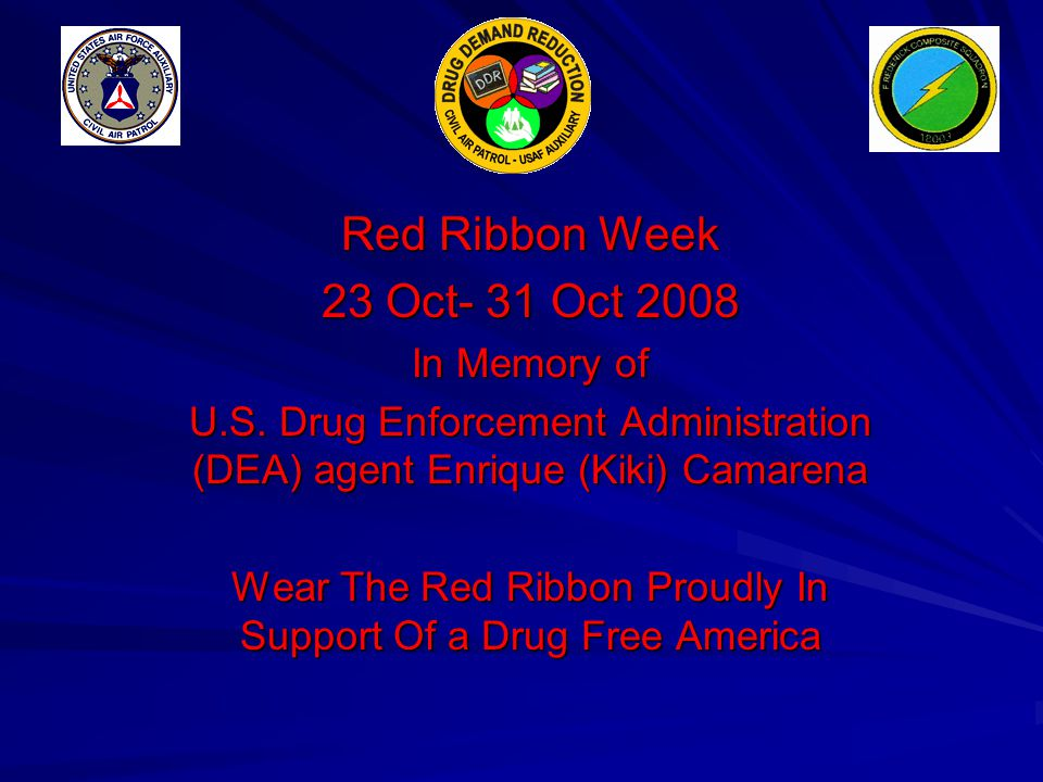 Wear The Red Ribbon Proudly In Support Of a Drug Free America