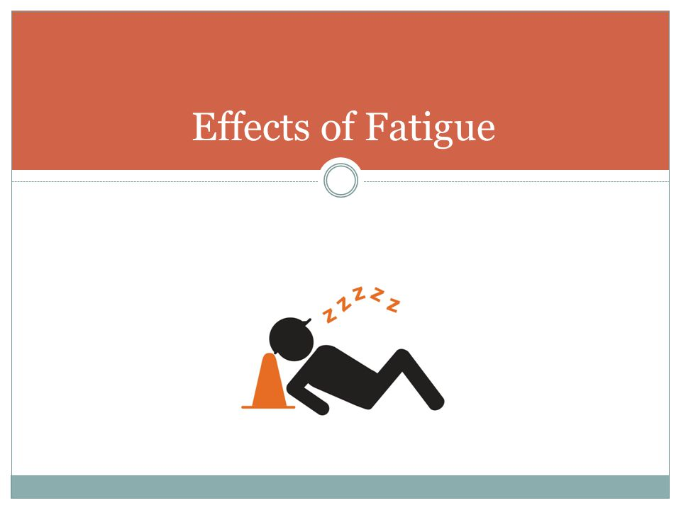 Effects of Fatigue Section heading