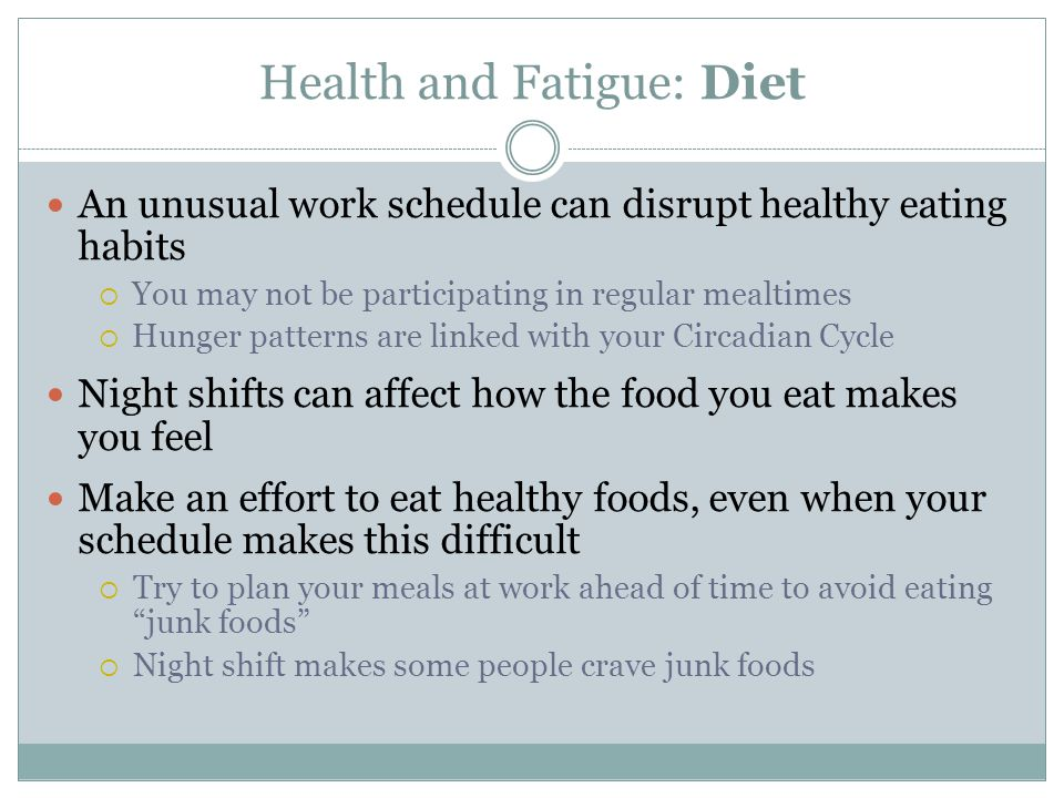Health and Fatigue: Diet