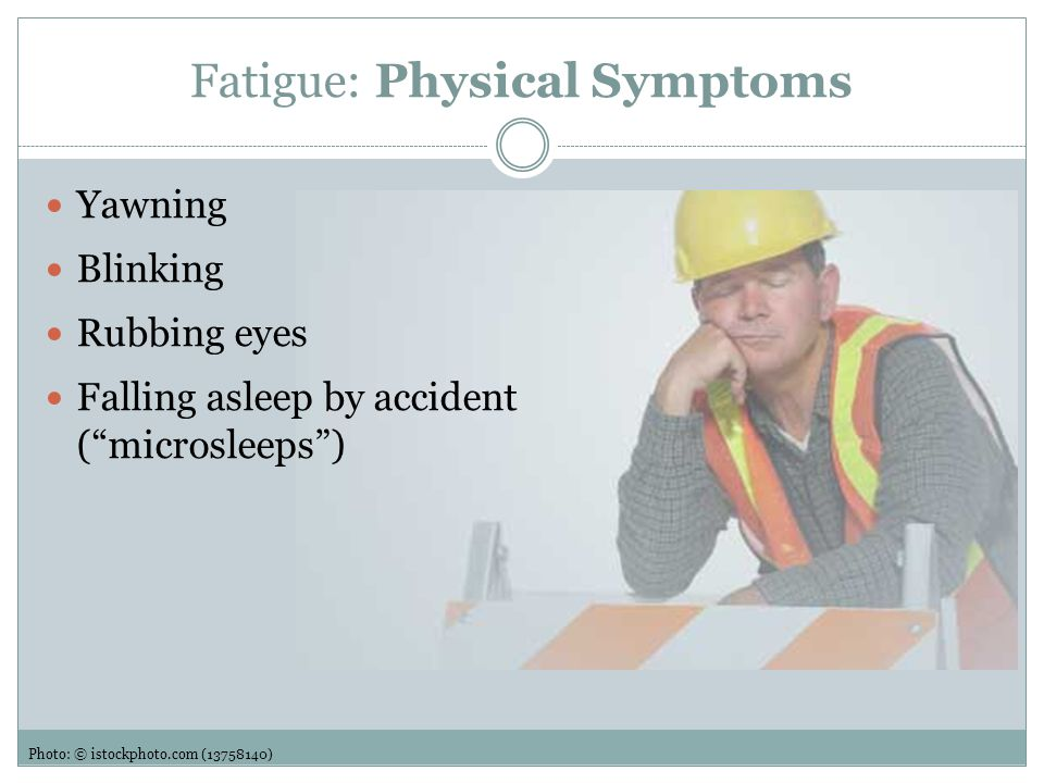 Fatigue: Physical Symptoms