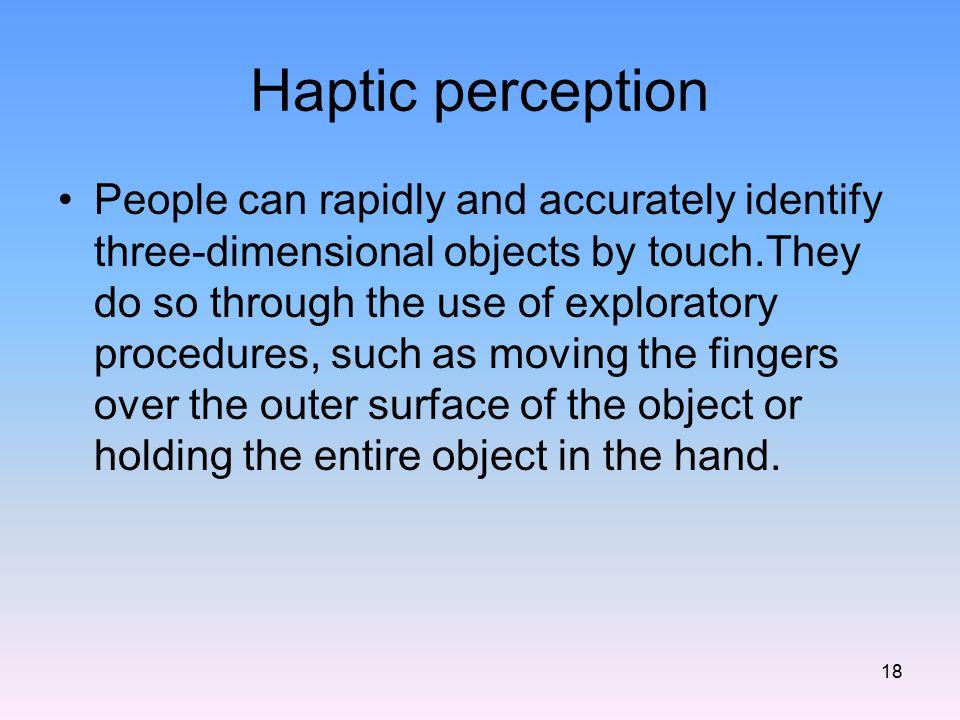 Haptic perception