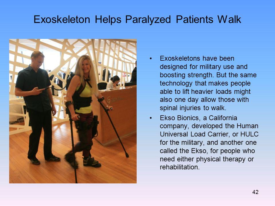 Exoskeleton Helps Paralyzed Patients Walk
