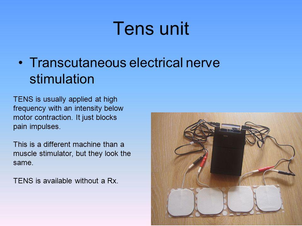 Tens unit Transcutaneous electrical nerve stimulation