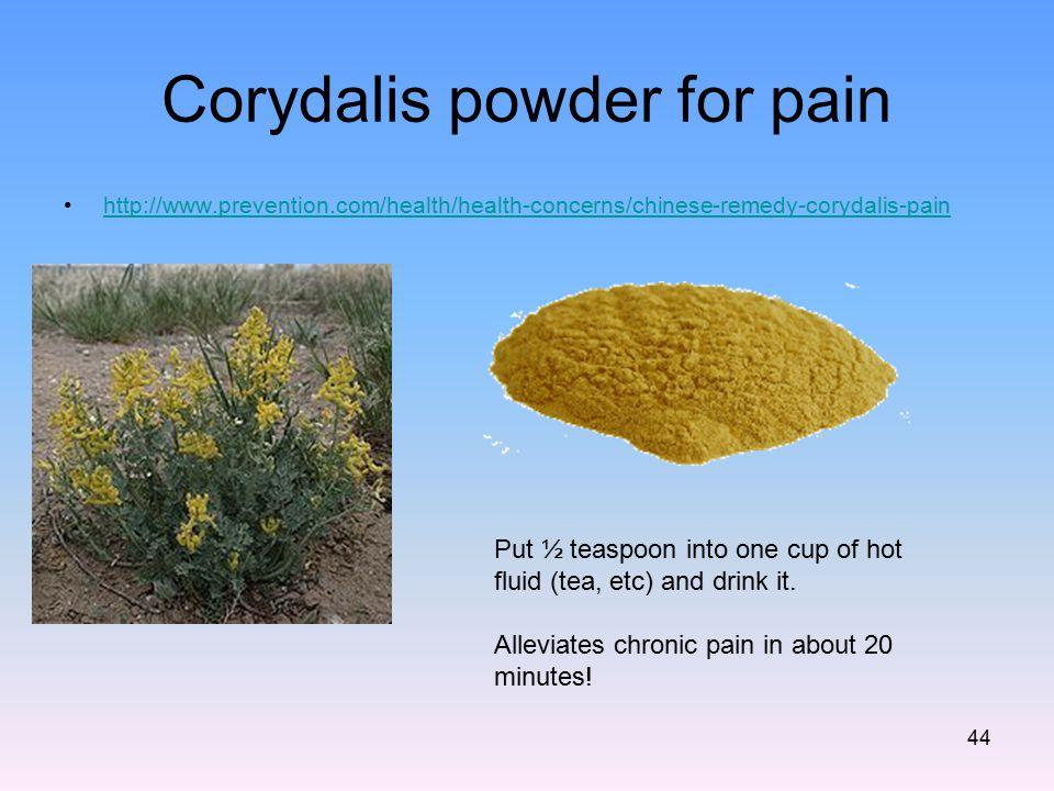 Corydalis powder for pain