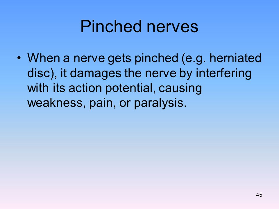 Pinched nerves