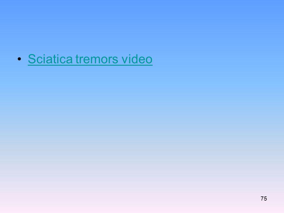 Sciatica tremors video