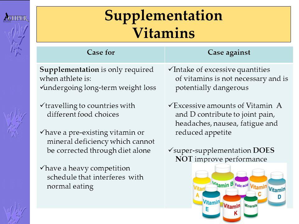 Supplementation Vitamins