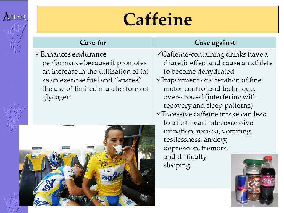 Caffeine Case for Case against Enhances endurance