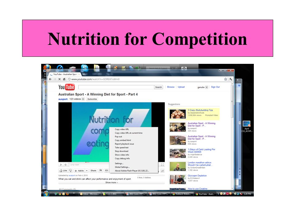 Nutrition for Competition