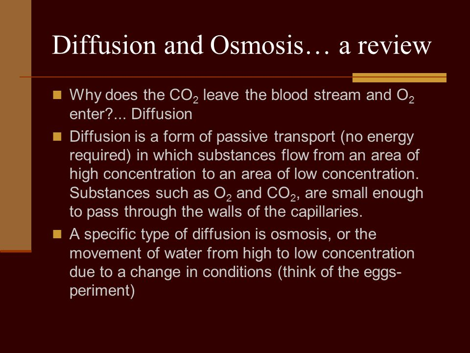 Diffusion and Osmosis… a review