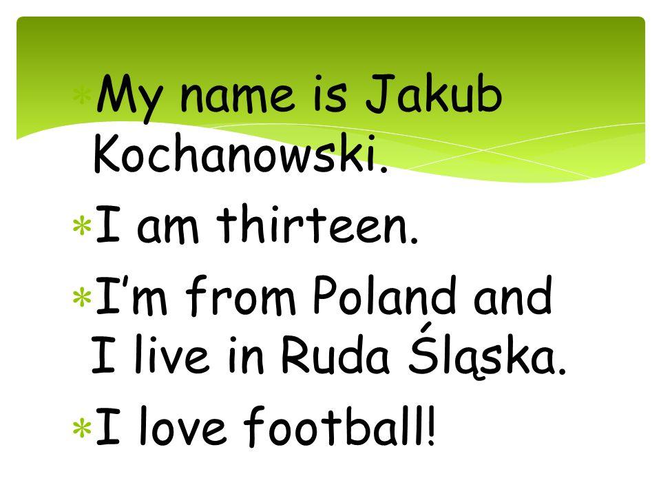 My name is Jakub Kochanowski.