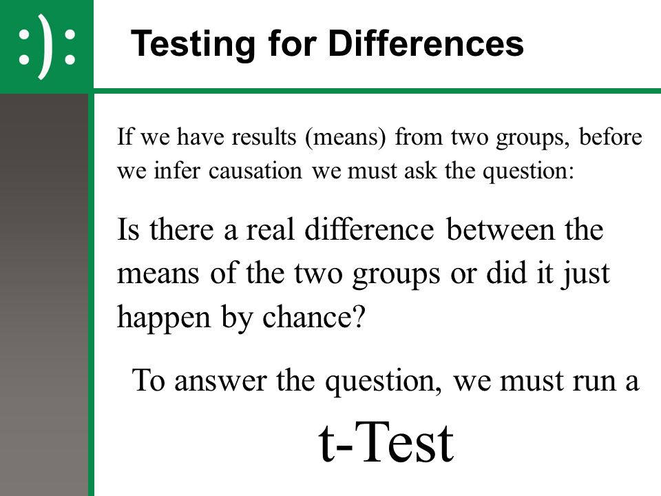 Testing for Differences