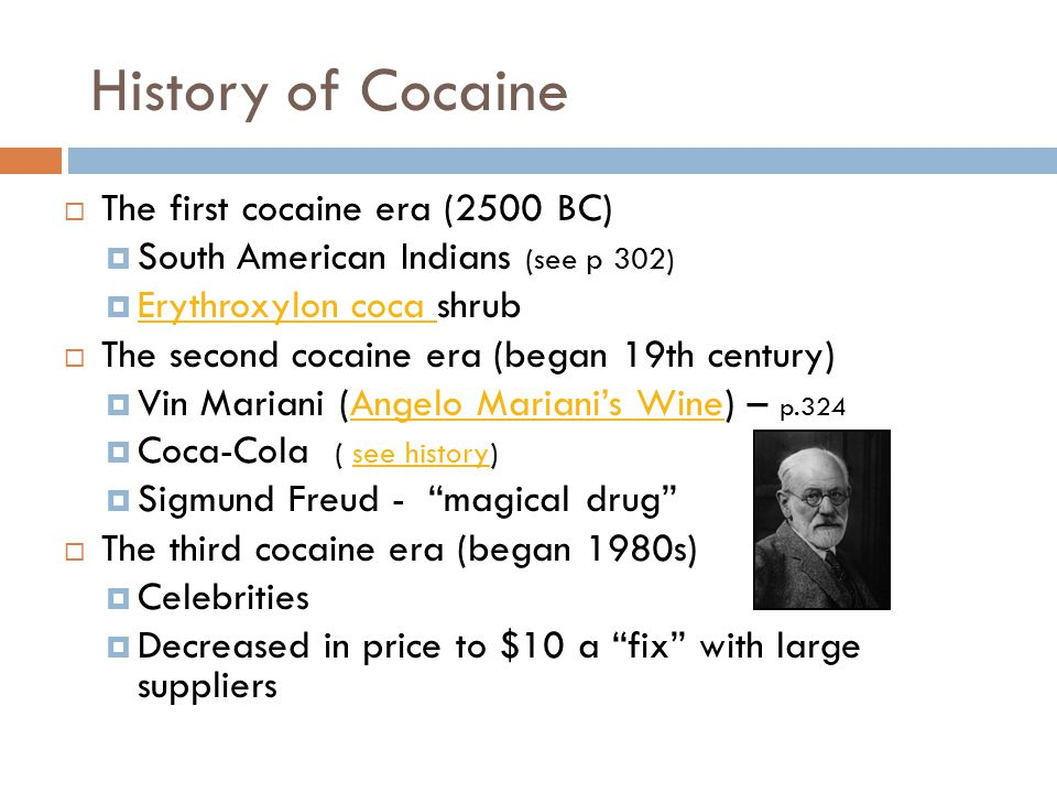 History of Cocaine The first cocaine era (2500 BC)