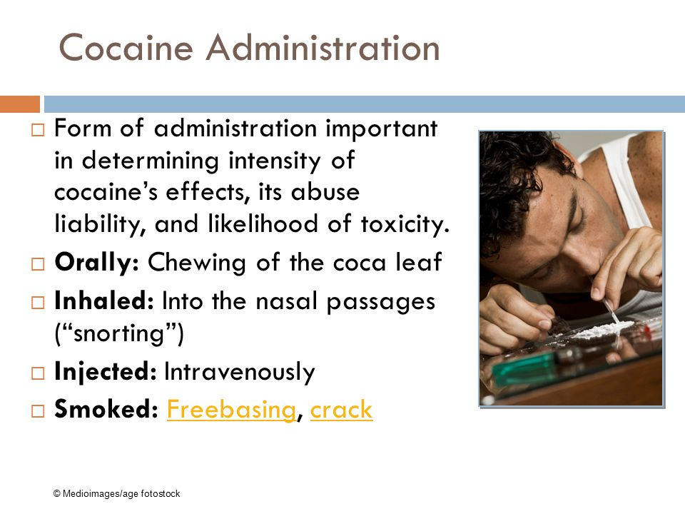 Cocaine Administration