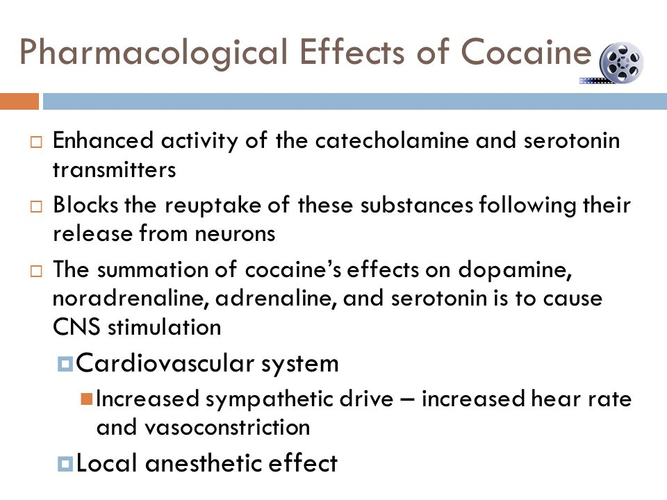 Pharmacological Effects of Cocaine