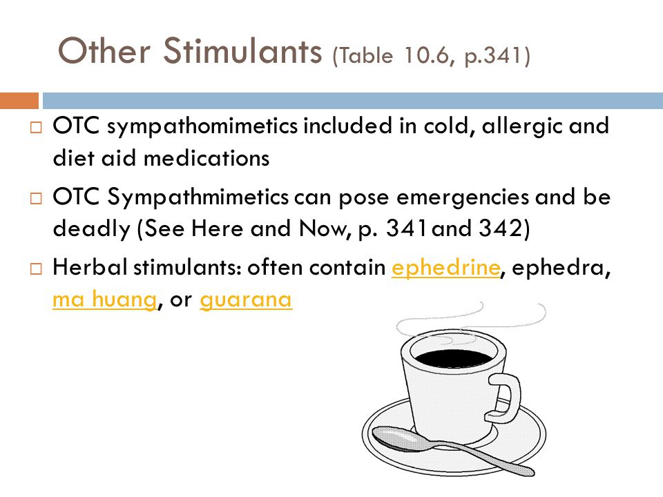 Other Stimulants (Table 10.6, p.341)