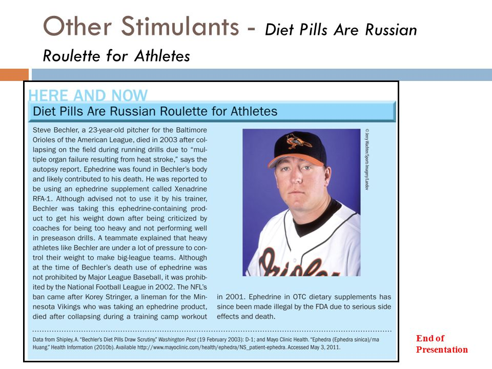 Other Stimulants - Diet Pills Are Russian Roulette for Athletes