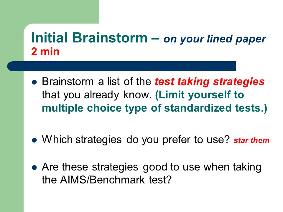 lined to do list test taking strategies ppt download