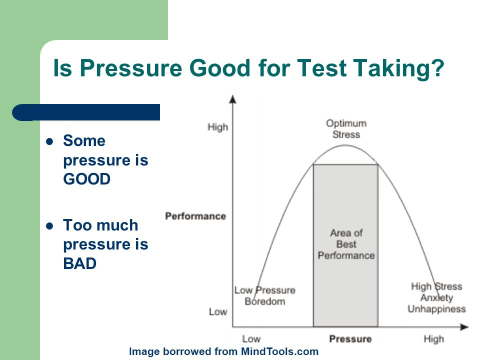 Is Pressure Good for Test Taking