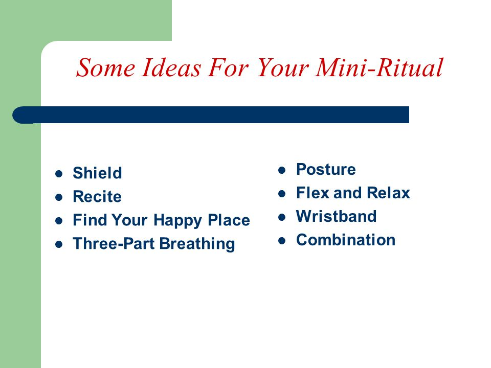 Some Ideas For Your Mini-Ritual