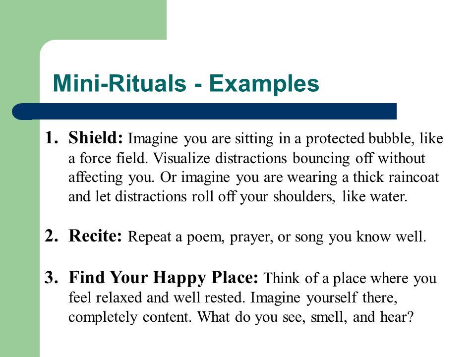 Mini-Rituals - Examples
