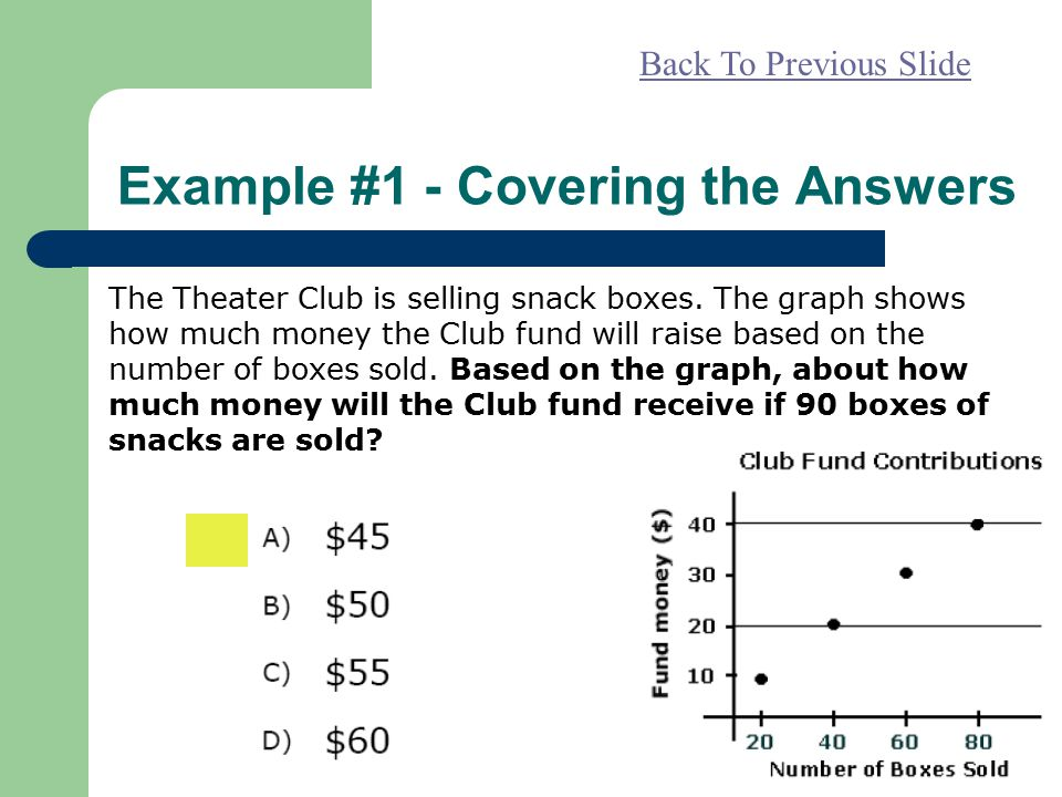 Example #1 - Covering the Answers