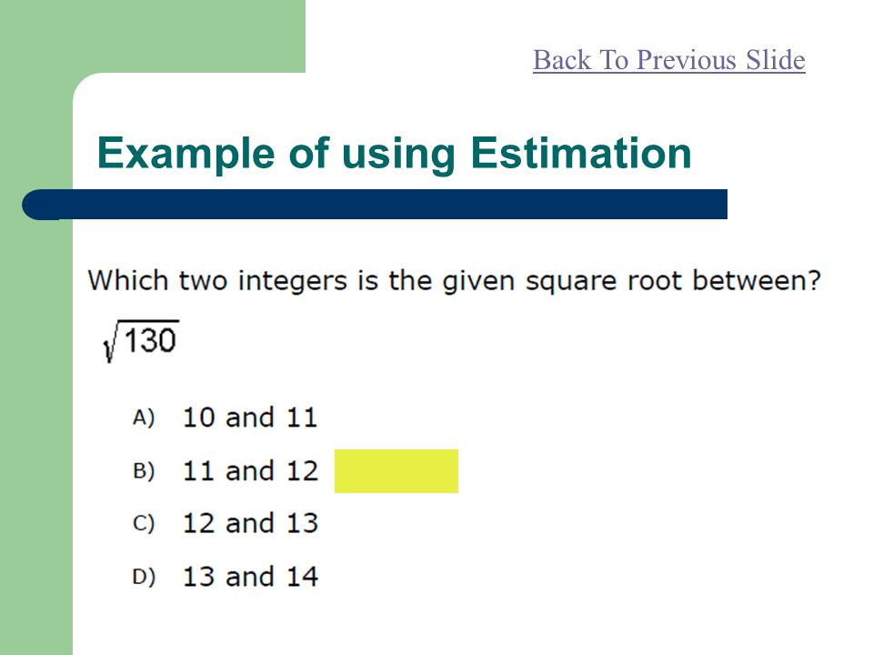 Example of using Estimation