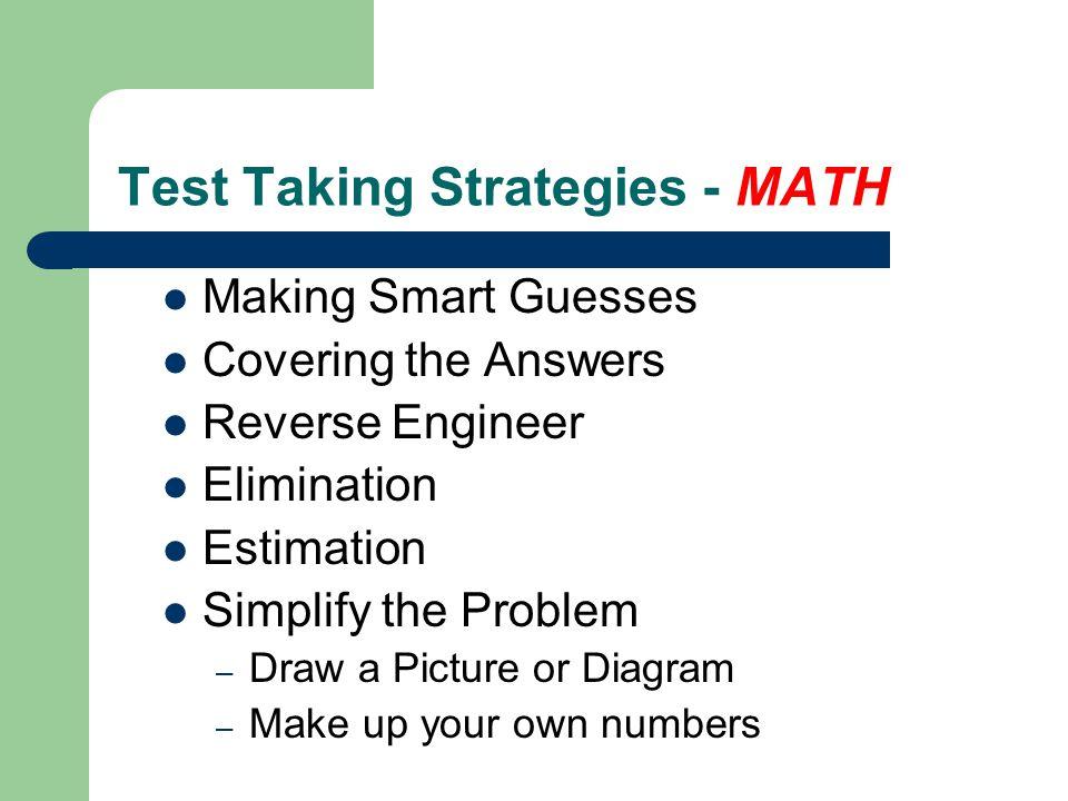 Test Taking Strategies - MATH