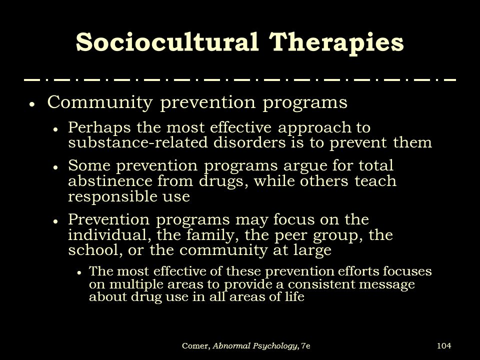 Sociocultural Therapies