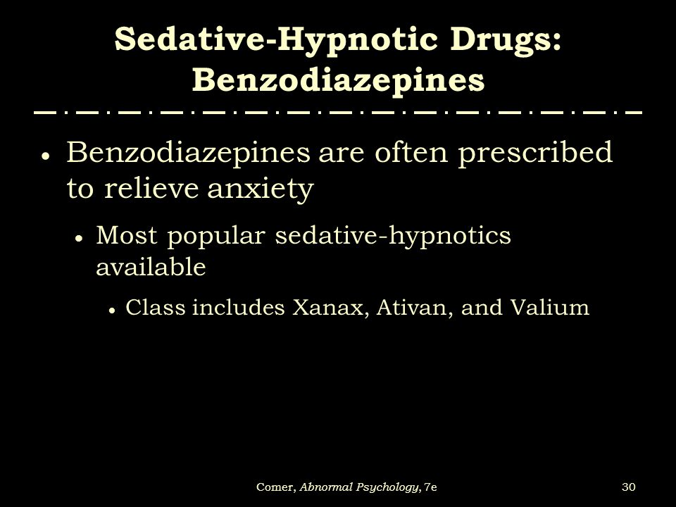 Sedative-Hypnotic Drugs: Benzodiazepines