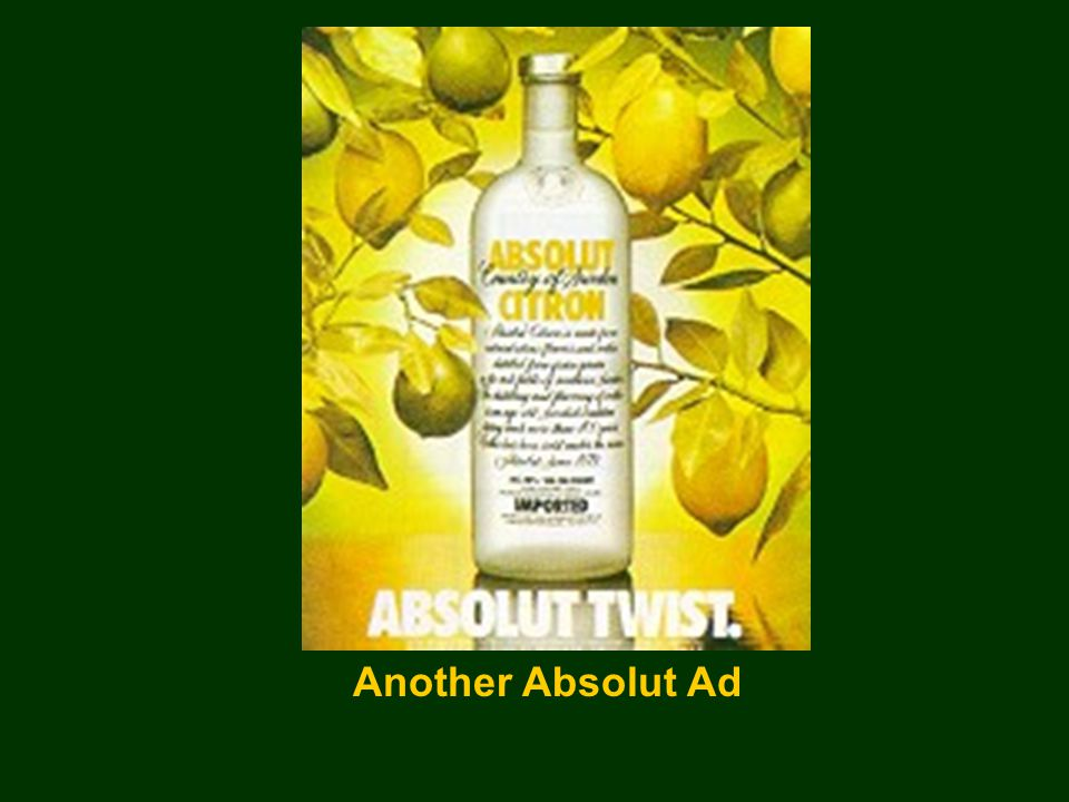 Another Absolut Ad