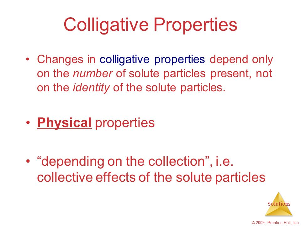 colligative properties and osmotic pressure Answer to colligative properties & osmotic pressure peter jeschofnig, phd version 42-0149-00-01 lab report assistant this docume.